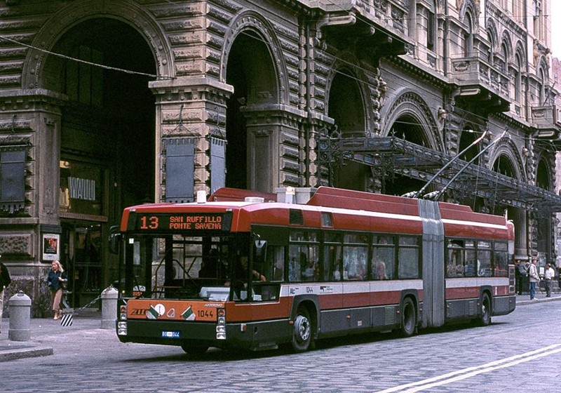 A bus picture in Bologna